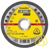 Круг отрезной A 346 EXTRA универсальный 125х1,6х22.23 (Klingspor)